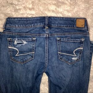 American Eagle Outfitters Jeans - AEO Stretch Artist Boot Leg Distressed Jeans